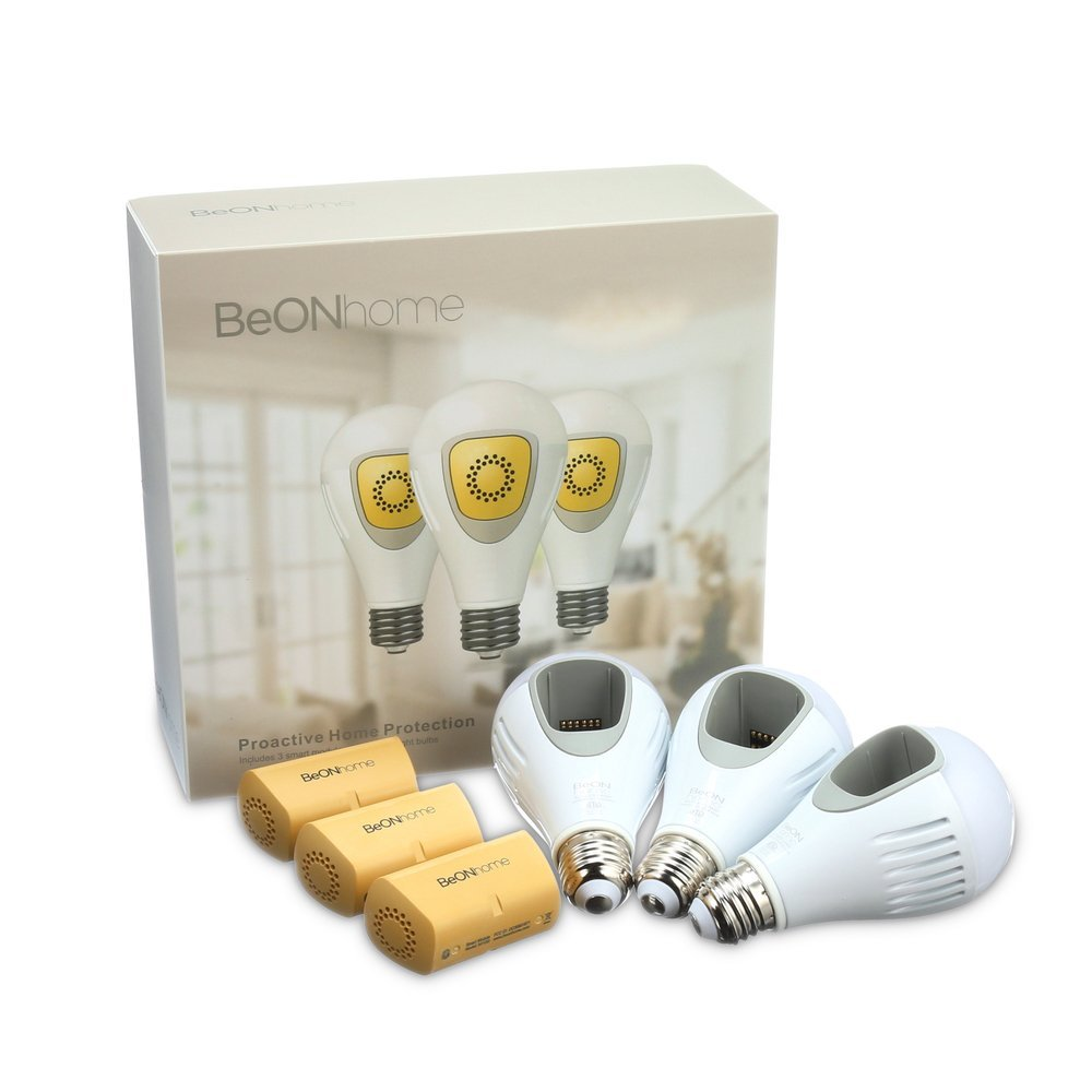 BeON smart light bulb and home security set