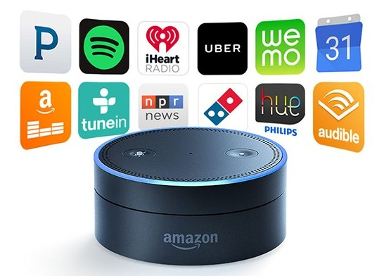 amazon echo with echo dots control your entire smart home. Black Bedroom Furniture Sets. Home Design Ideas