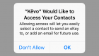 Kevo Plus App Send eKey Screen