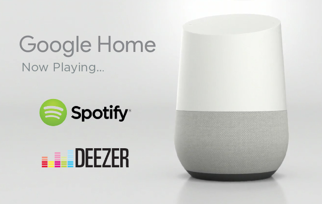 Google Home Spotify and Deezer Streaming