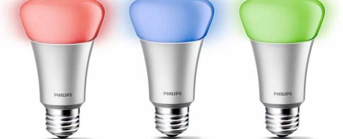 Philips Hue Smart Colored Light Bulbs