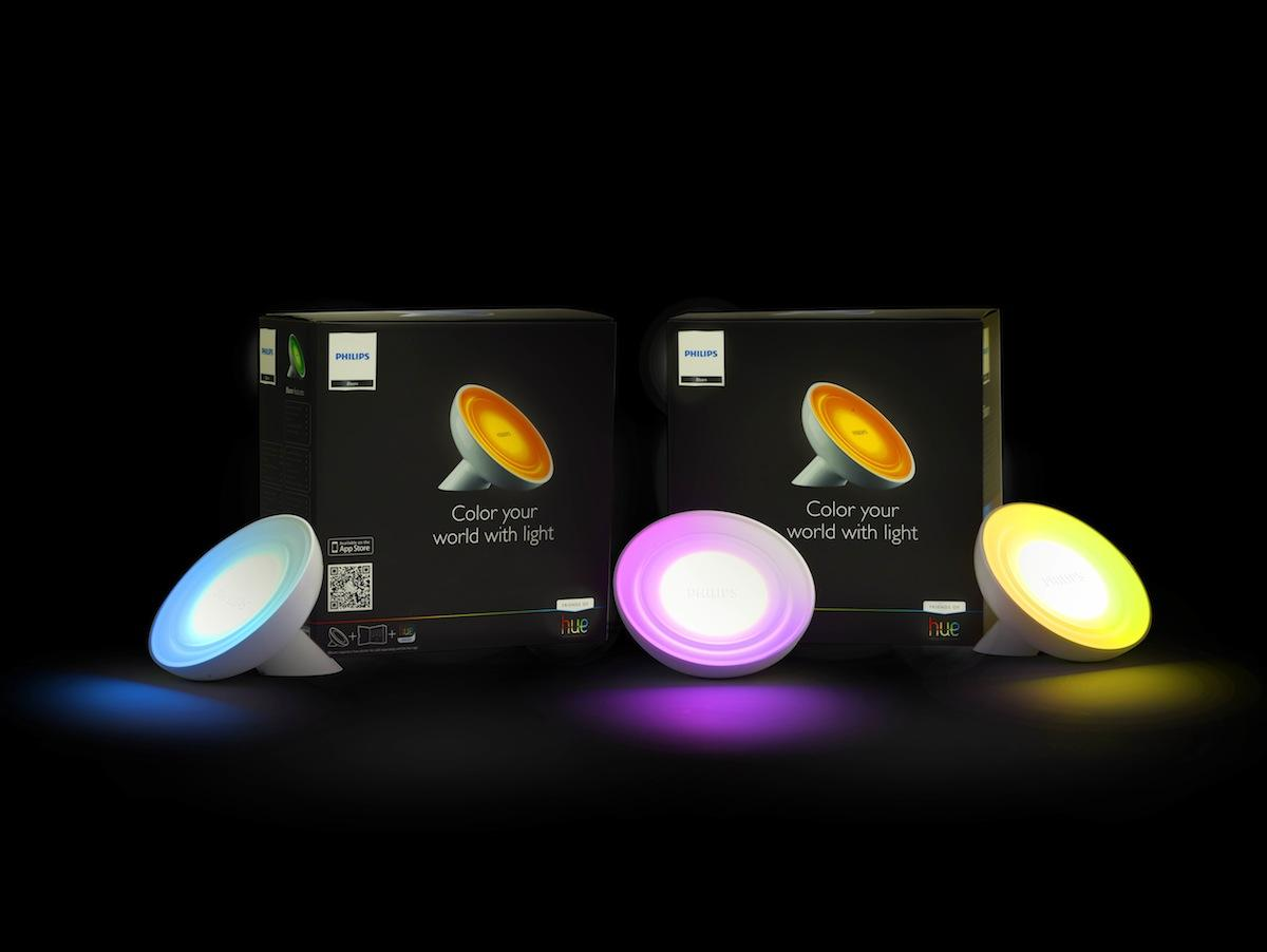 Philips has a family of colored led lights, including bulbs, floods and lLED light strips