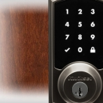 Close-up of the SmartCode 916 lock's keypad