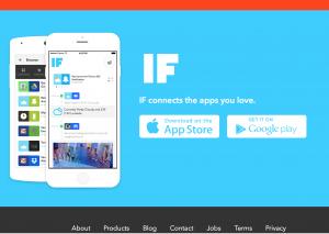 IFTTT - website image