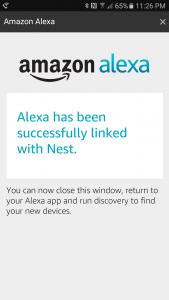 Nest and Alexa