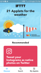 Creating a weather alert in IFTTT is simple, and there are so many options.