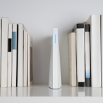 Wink HUB 2 sitting on the shelf as a book.
