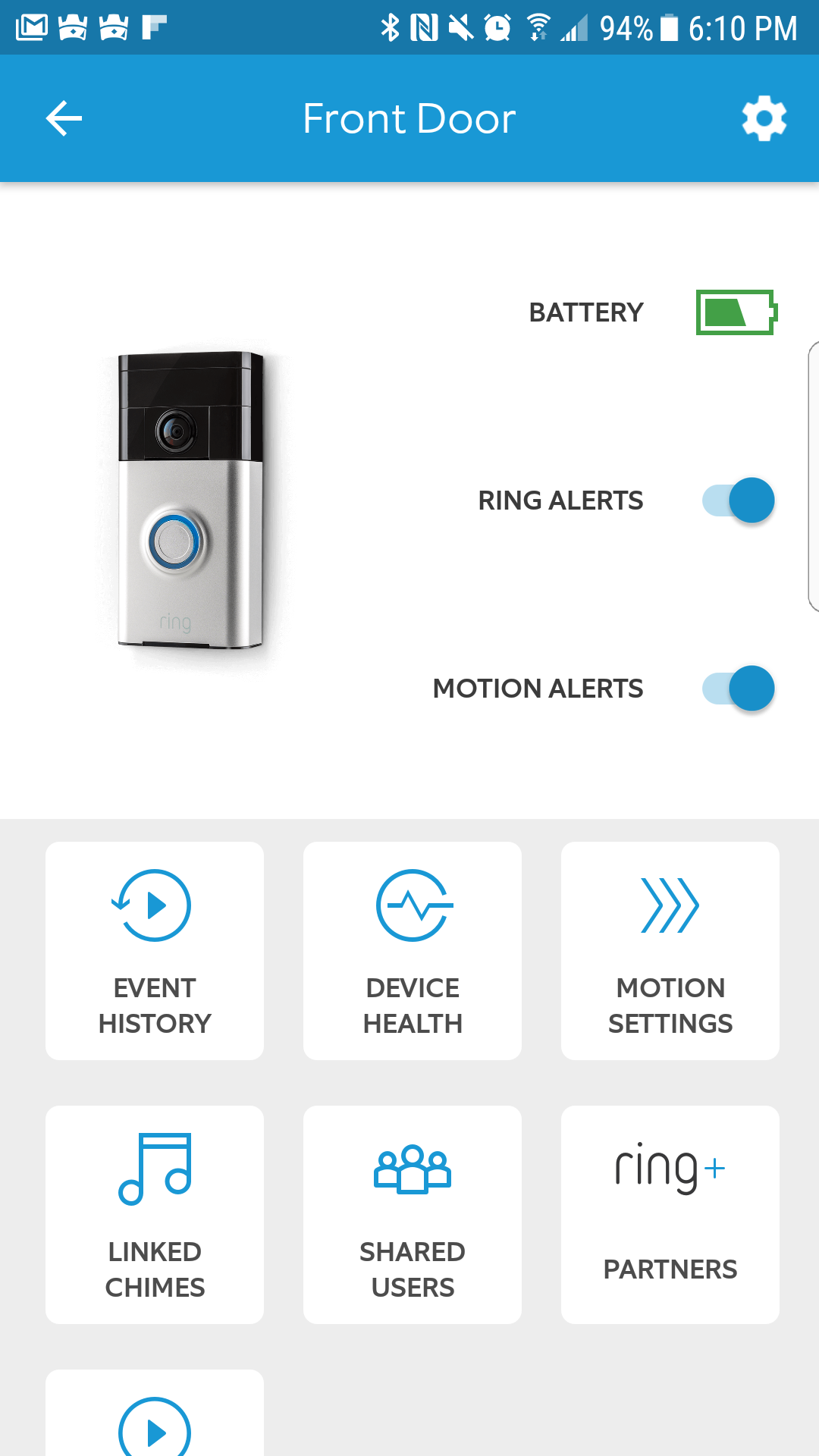 Ring Video Doorbell - Ring Mobile Application