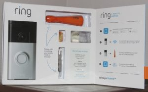 Ring includes tools and mounting hardware in box