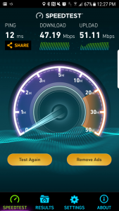 Speeds checked out. Just needed to change the SSID settings on my wireless network and separate the 2G and 5G networks.