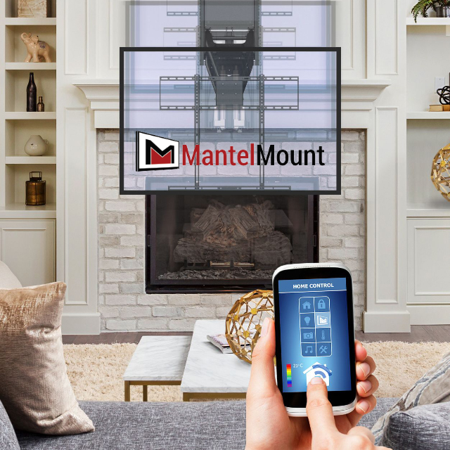 Mantlemount Mm850 Automated Tv Mount Makes Watching A Comfortable Affair